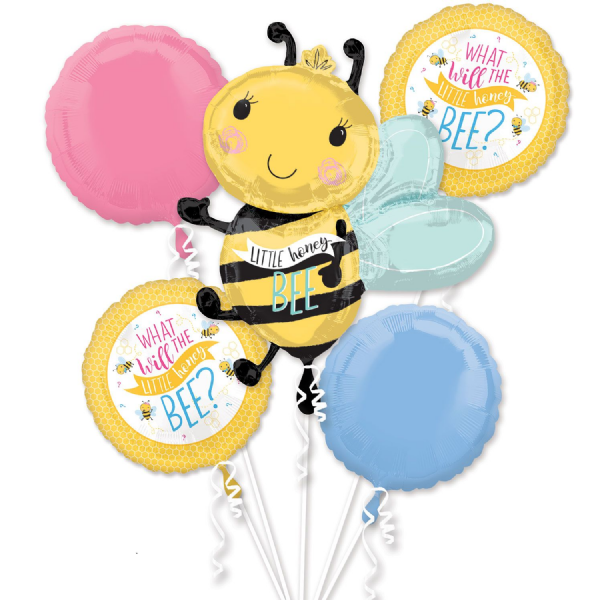 What Will It Bee Foil Balloon Bouquet